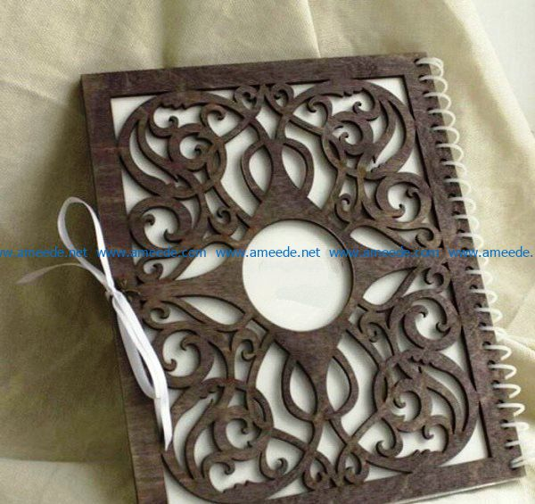 notebook cover file cdr and dxf free vector download for Laser cut