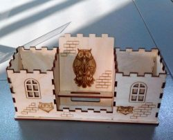owl house organizer  file cdr and dxf free vector download for Laser cut