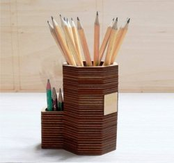 pencil stand file cdr and dxf free vector download for Laser cut CNC