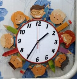 wall clock for schoolchild  file cdr and dxf free vector download for Laser cut