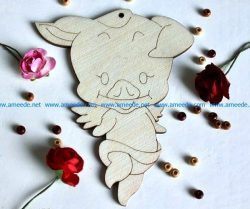 dancing piglets file cdr and dxf free vector download for Laser cut