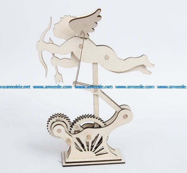 Angel with wings and moving wings file cdr and dxf free vector download for Laser cut