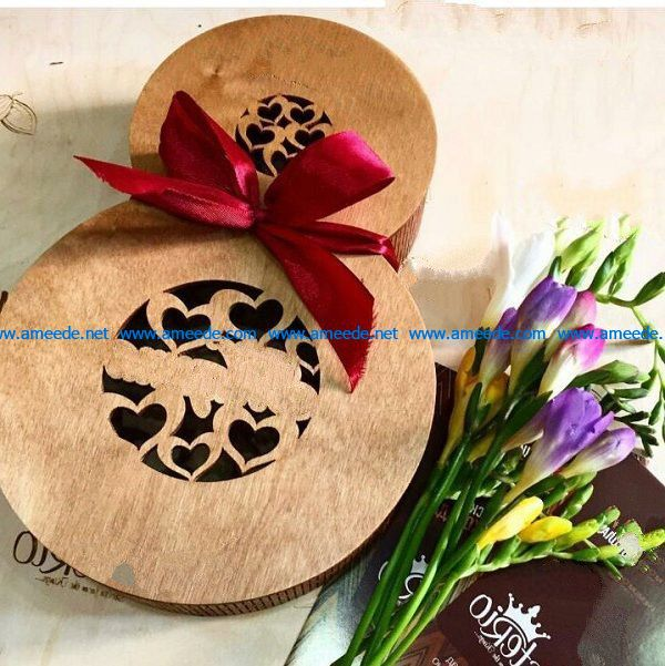 gourd-shaped wooden box file cdr and dxf free vector download for Laser cut