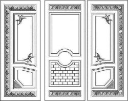 Four corner flower door texture file cdr and dxf free vector download for Laser cut CNC