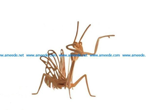 mantis file cdr and dxf free vector download for Laser cut