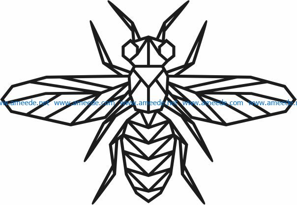 Bee murals file cdr and dxf free vector download for Laser cut Plasma file Decal