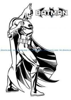 batman-malvorlagen file cdr and dxf free vector download for print or laser engraving machines