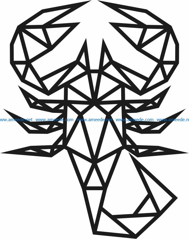 Scorpion file cdr and dxf free vector download for Laser cut Plasma file Decal