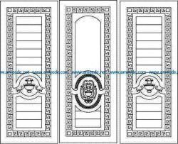 Vase door texture file cdr and dxf free vector download for Laser cut CNC