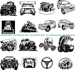 stickers for car file cdr and dxf free vector download for print or laser engraving machines