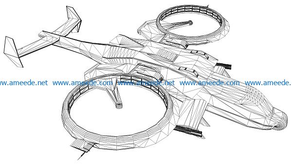 3D illusion led lamp Airplane free vector download for laser engraving machines
