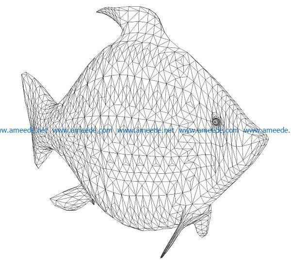 3D illusion led lamp Aquarium free vector download for laser engraving machines