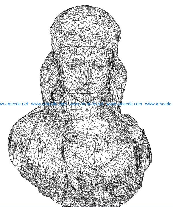 3D illusion led lamp Egyptian queen free vector download for laser engraving machines