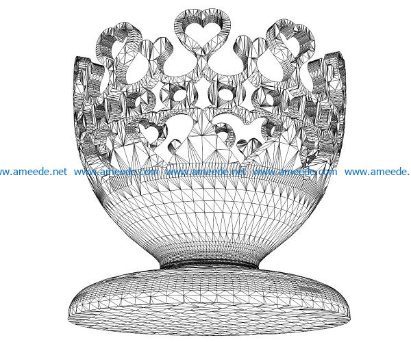 3D illusion led lamp Goblet free vector download for laser engraving machines