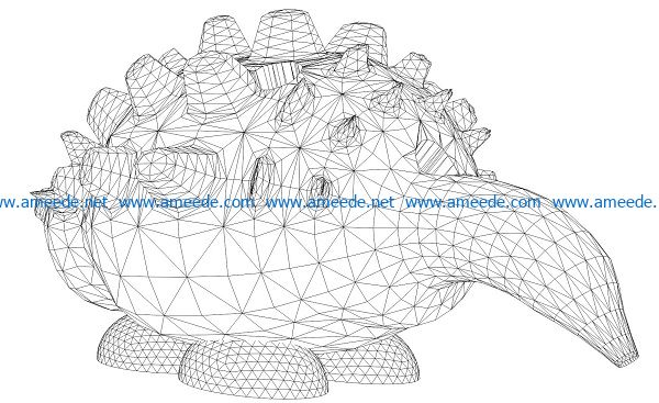 3D illusion led lamp Hedgehog free vector download for laser engraving machines