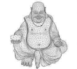 3D illusion led lamp Maitreya buddha free vector download for laser engraving machines