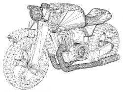 3D illusion led lamp Motorcycle modelfree vector download for laser engraving machines