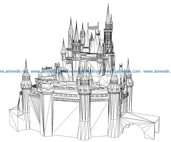 3D illusion led lamp Royal Palace free vector download for laser engraving machines