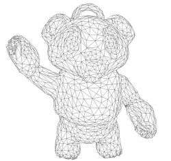 3D illusion led lamp Teddy bear free vector download for laser engraving machines