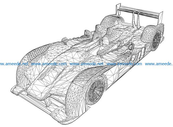 3D illusion led lamp car f1 free vector download for laser engraving machines