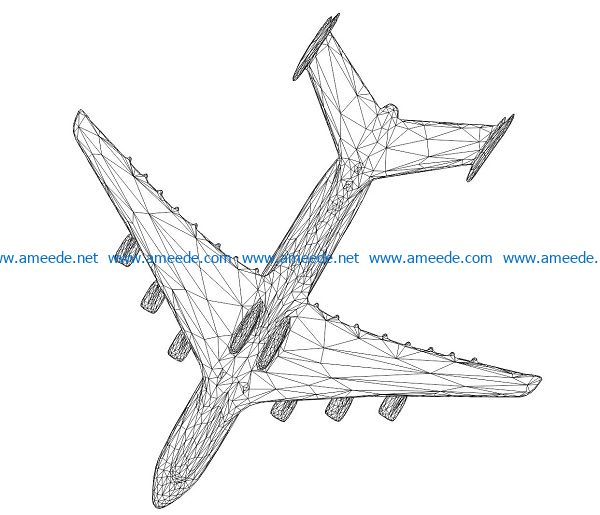 3D illusion led lamp combat aircrafts free vector download for laser engraving machines