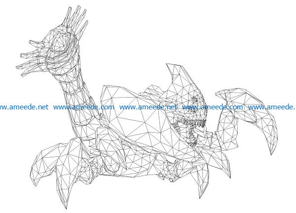 3D illusion led lamp crabs free vector download for laser engraving machines