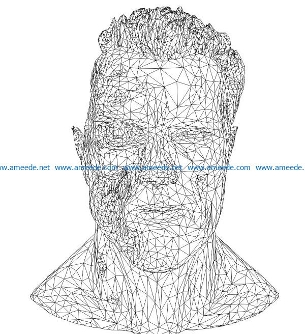 3D illusion led lamp destroyer face free vector download for laser engraving machines
