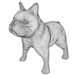 3D illusion led lamp dog free vector download for laser engraving machines
