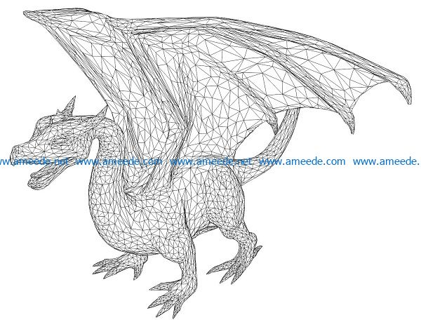 3D illusion led lamp dragon free vector download for laser engraving machines