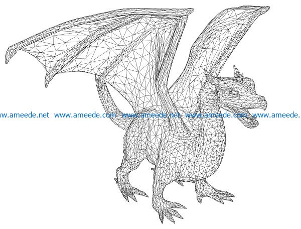 3D illusion led lamp dragon lamp free vector download for laser engraving machines