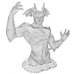3D illusion led lamp dragon's body free vector download for laser engraving machines