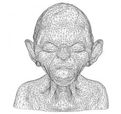 3D illusion led lamp evil face free vector download for laser engraving machines
