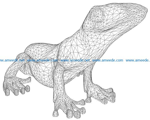 3D illusion led lamp frog lights free vector download for laser engraving machines