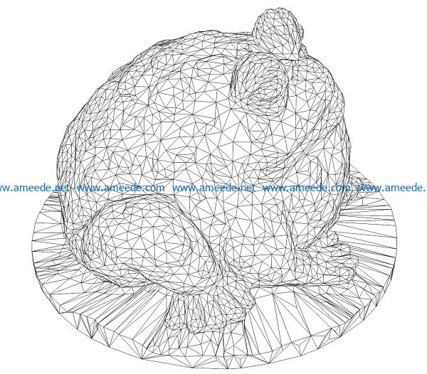 3D illusion led lamp frog sitting lotus leaf free vector download for laser engraving machines
