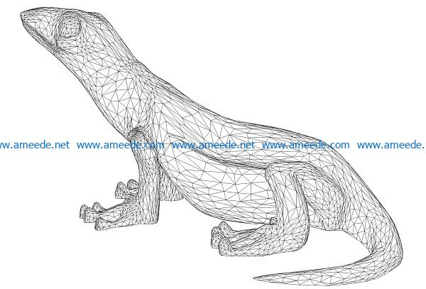 3D illusion led lamp geckos free vector download for laser engraving machines