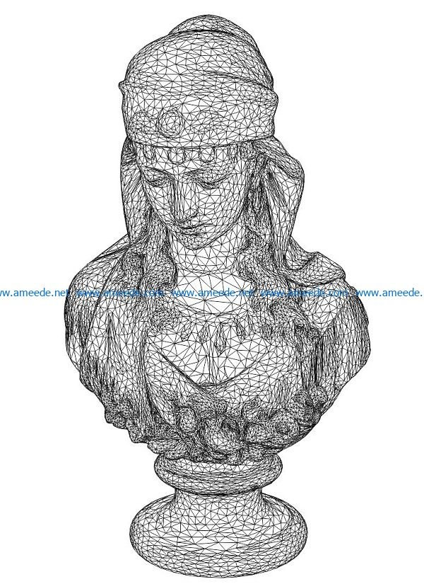 3D illusion led lamp goddess free vector download for laser engraving machines