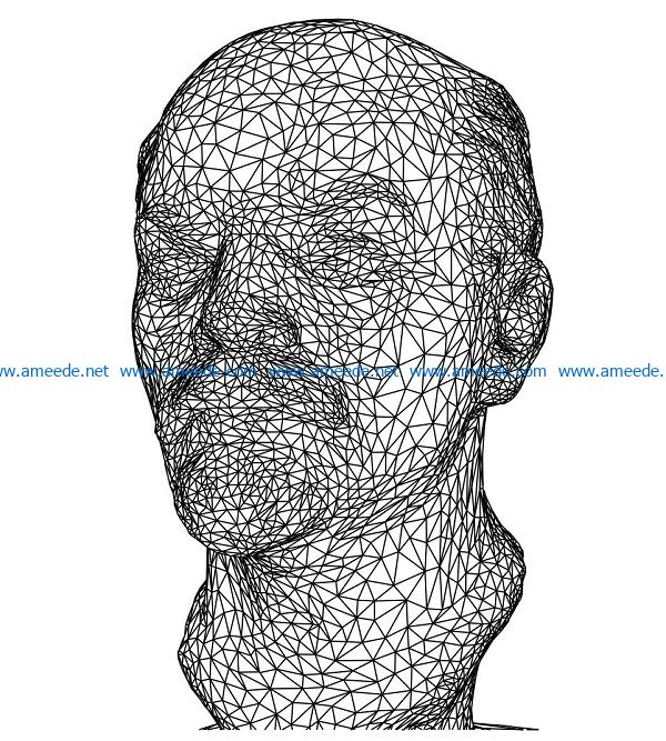 3D illusion led lamp head lenin free vector download for laser engraving machines3D illusion led lamp head lenin free vector download for laser engraving machines