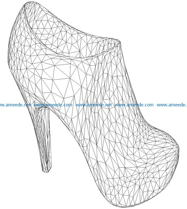 3D illusion led lamp high heels free vector download for laser engraving machines