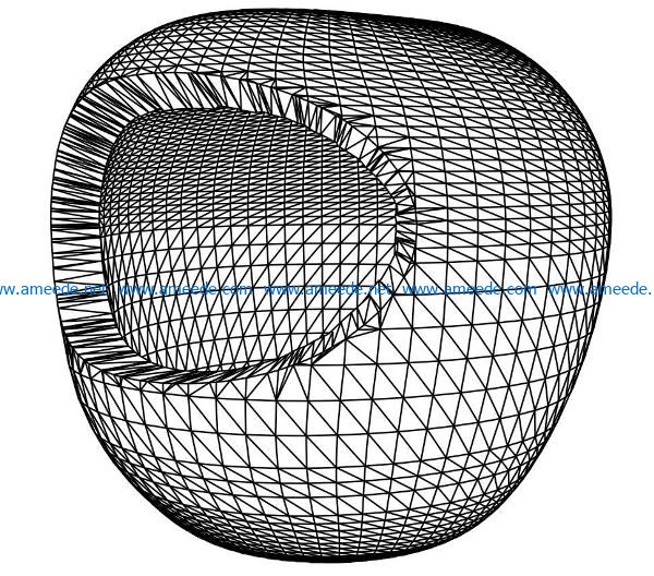 3D illusion led lamp hive free vector download for laser engraving machines