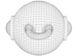 3D illusion led lamp iron ball free vector download for laser engraving machines