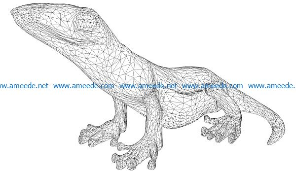 3D illusion led lamp lizard free vector download for laser engraving machines