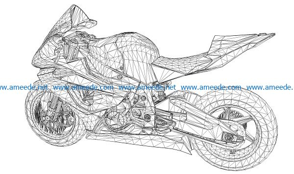 3D illusion led lamp moto ducati free vector download for laser engraving machines