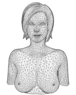 3D illusion led lamp girl portrait free vector download for laser engraving machines