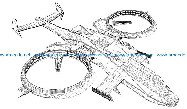 3D illusion led lamp raptor free vector download for laser engraving machines