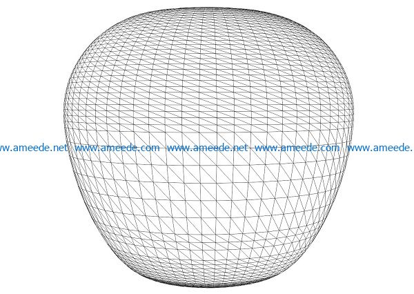3D illusion led lamp round lantern free vector download for laser engraving machines