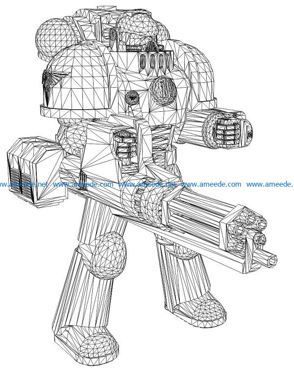 3D illusion led lamp shooting robot free vector download for laser engraving machines