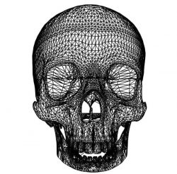 3D illusion led lamp skullcap  free vector download for laser engraving machines