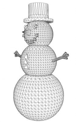 3D illusion led lamp snowman free vector download for laser engraving machines