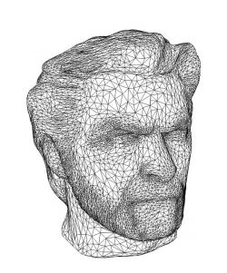 3D illusion led lamp stone head  free vector download for laser engraving machines