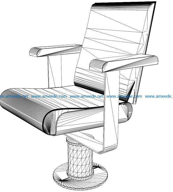 3D illusion led lamp swivel chair free vector download for laser engraving machines